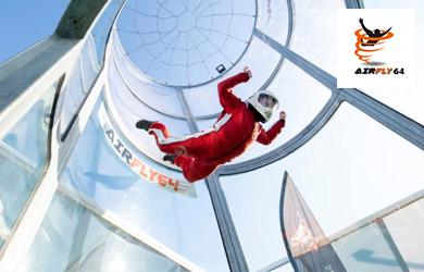 Bono de 2 vuelos en túnel de viento para niños o adultos con víde