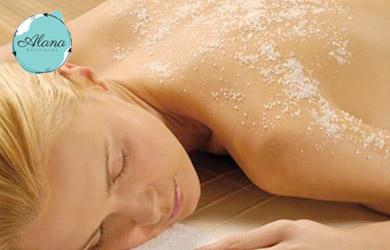 Peeling corporal con sales minerales y masaje súper hidratante
