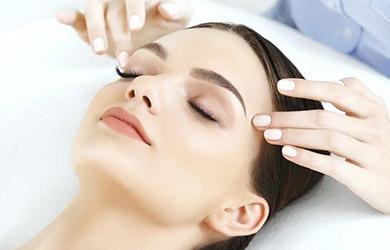 sesión de 60min de drenaje linfático facial manual, método Vodder