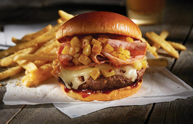 Menú burger supreme con patatas y bebida