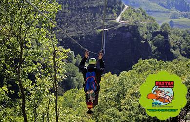 Circuito de Canoping con 4 Tirolinas Gigantes  en Baztan Abentur