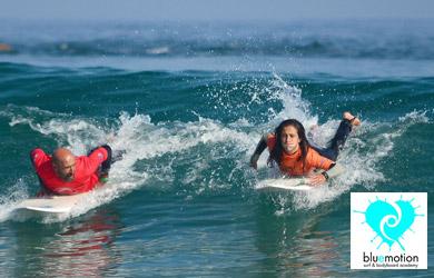 Clase privada de surf o bodyboard de 90 min para 2 personas