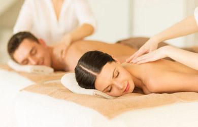 Masaje relajante en pareja de 90min con piedras de sal calientes