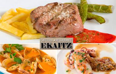 Menú especial en el Restaurante Ekaitz para 1 persona