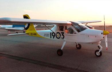 Bautizo aéreo en avión ultraligero en Navarra de 20 min