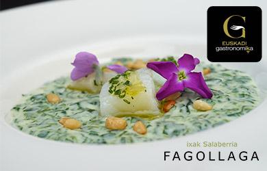 menú degustación de invierno en el Fagollaga