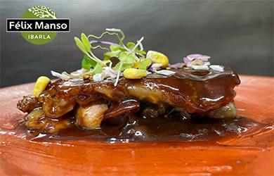Menú menú degustación de la mano del chef Félix Manso