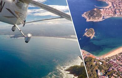 Vuelo para hasta 3 personas en avioneta sobre la costa guipuzcoan