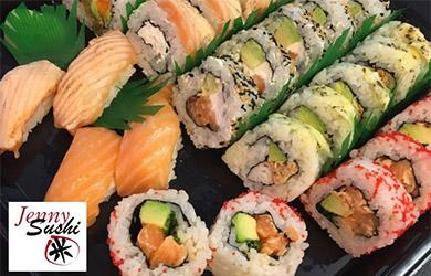 Menú japonés take away de 18 piezas en Jenny Sushi