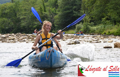 Descenso en canoa por el río Sella para 2 personas en canoa doble