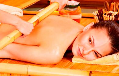 Masaje de 45 min con cañas de bambú, relajante, descontracturante