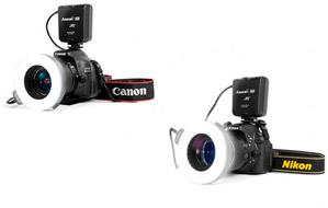 Anillo flash de macro para Nikon o Canon