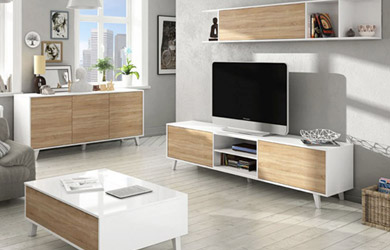 Aparador, mueble de TV + estante o mesa de centro elevable color