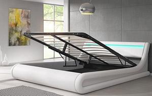 Cama de diseño con Canapé en blanco o negro