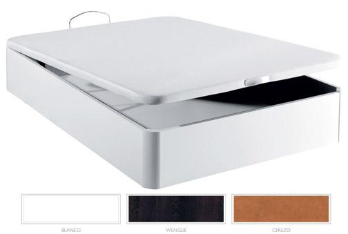 Canapé de madera de esquinas redondeadas en 3 colores a elegir