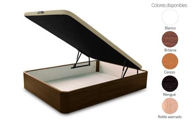 Canapé de madera con base abatible 80x180cm