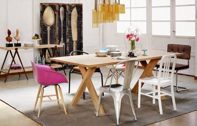 ¡Cambia el aspecto de tu comedor con estas mesas y sillas por muy