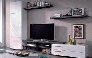 Mueble de Salón con diseño moderno y gran capacidad de almacenaje