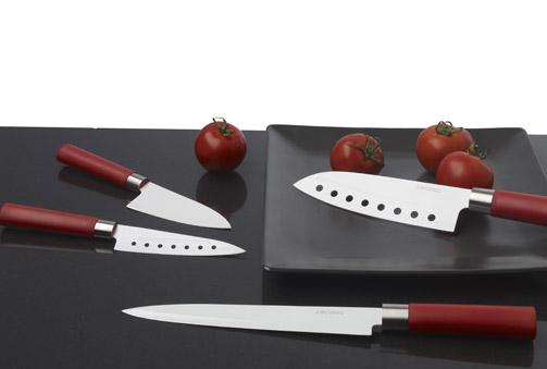 Set de 4 cuchillos con recubrimiento cerámico