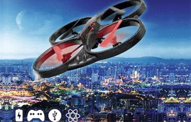 Dron con led y giros de 360º