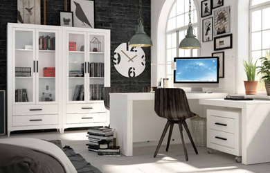 Elegante composición para despacho funcional