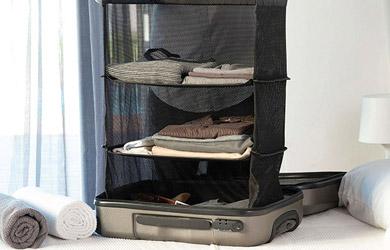 Estantería plegable organizadora de maletas