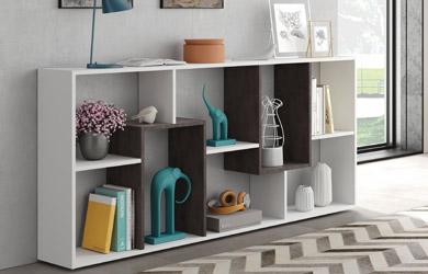 Estanteria librería oficina blanco artik-óxido