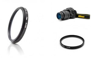 Filtro UV para objetivos Nikon de 52mm o  Canon de 58mm