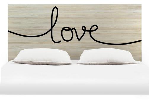 Cabecero 1,8 madera natural love