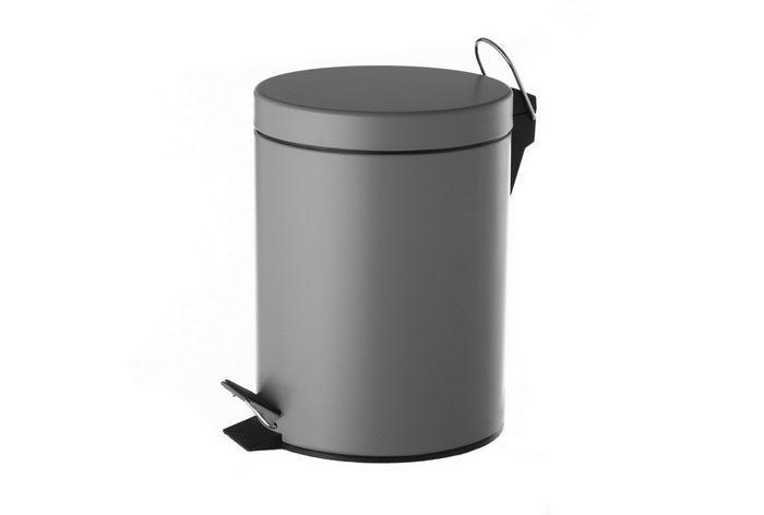 Papelera Gris Metal Capacidad: 5 Litros.