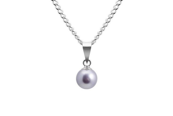 Colgante Regina bañado en plata 925 y perla de Swarovski