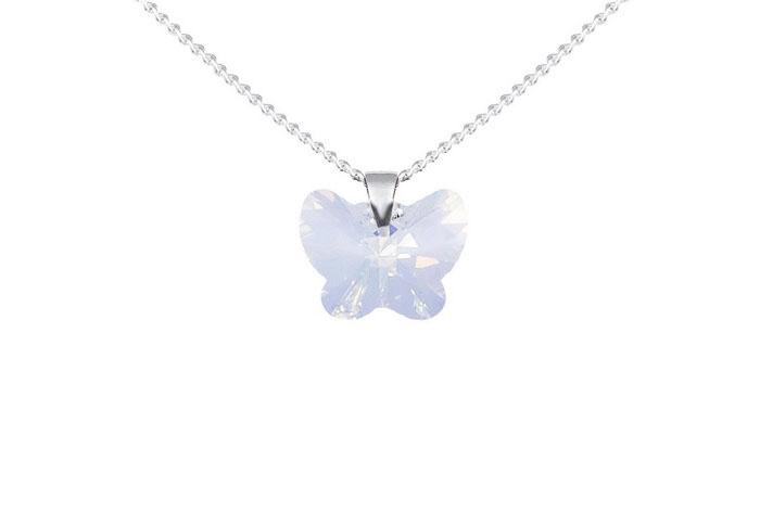Colgante Aster Mariposa bañado en plata 925 y cristales de Swarov