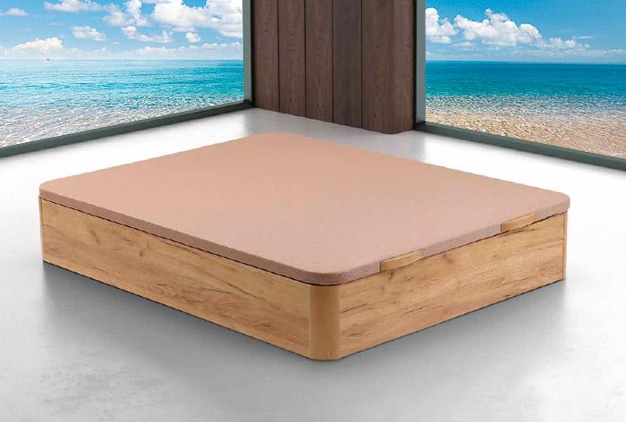 Canapé Ernio. Canapé de madera con patas y base abatible. Varios