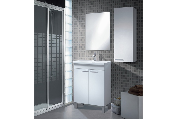 Mueble lavabo PEQ. 2p + espejo + LAVABO