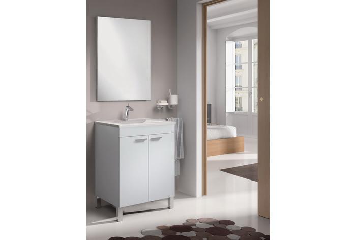 LC1-60  Mueble lavabo 60  2p+espejo + LAVABO 305921O