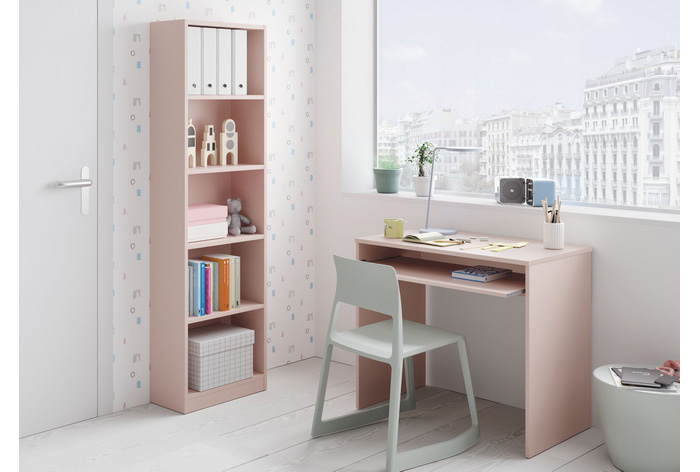 Mesa ordenador rosa