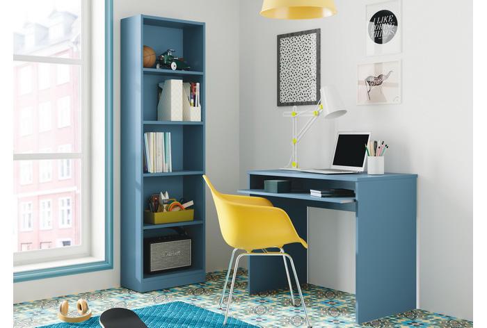 Mesa ordenador azul
