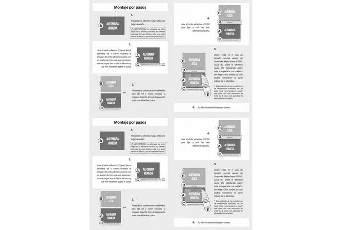 Alfombra Desinfectante Suelas Calzado (2 vinilos)