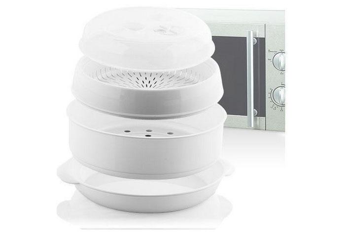 Olla para cocinar al vapor en el microondas