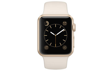 Apple Watch Sport 38mm - Aluminio Dorado - Correa deportiva blanc