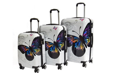 Juego 3 Maletas Fashion butterfly