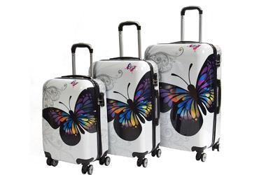 Juego 3 Maletas Fashion butterfly