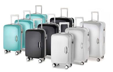 Juego de 3 maletas  fabricadas en ABS y marco de aluminio con 4 r