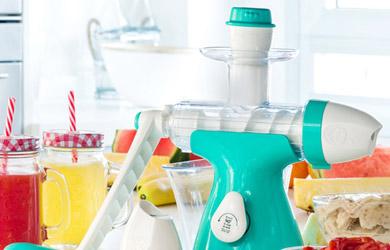 Máquina de zumos y helados con manivela