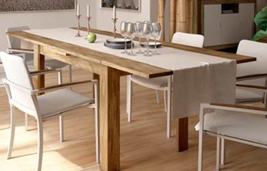Mesas de comedor extensible de estilo moderno