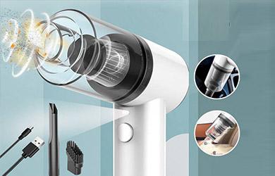 Aspirador de Mano Sin Cable, 4500 Pa, Filtro Lavable, Iluminación