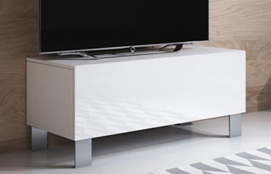 Mueble TV (100x42cm) con patas de aluminio