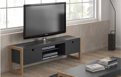 Mueble de TV con 2 puertas en color  gris