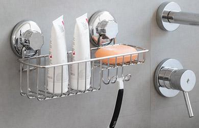Organizador de ducha con ventosas