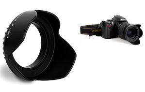 Parasol para cámaras Nikon de 52mm o Canon de 58mm